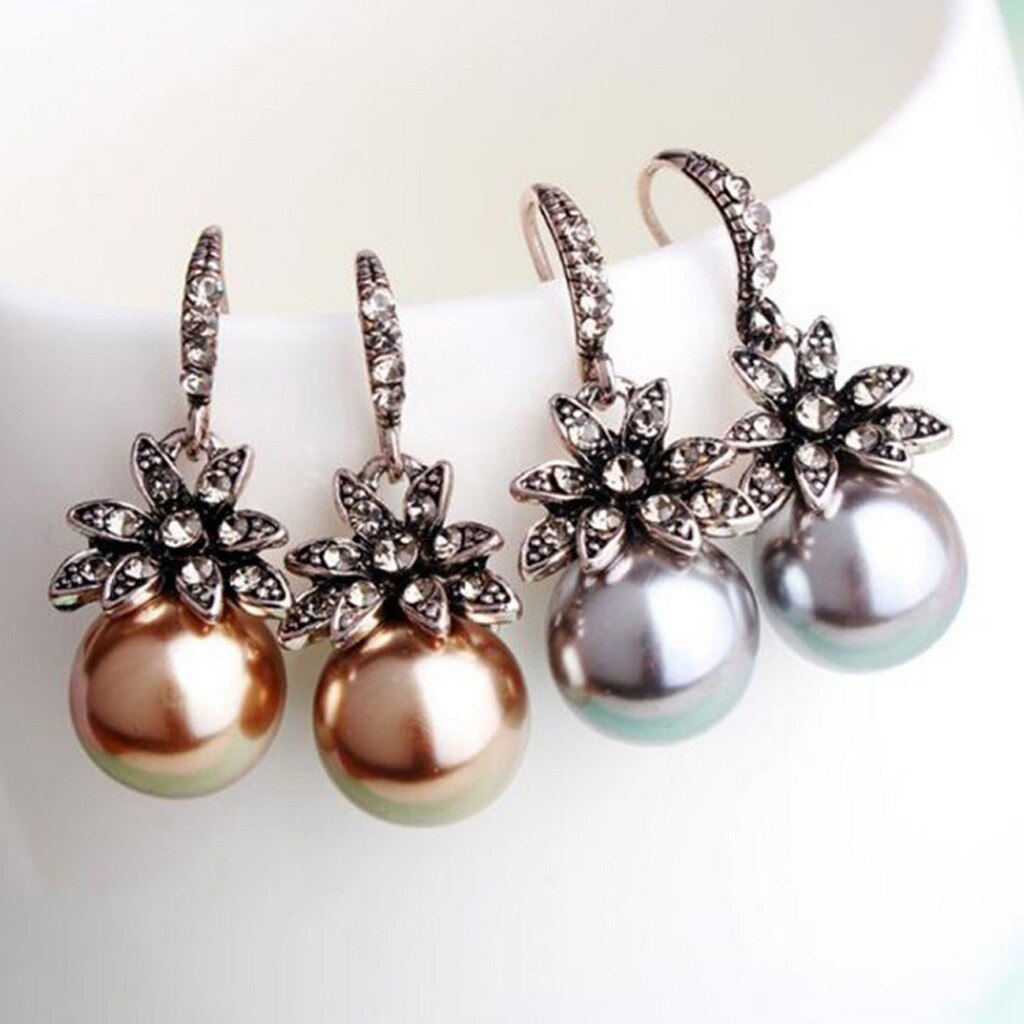 New Fashion Brand Crystal Flower Pearl Jewelry & Watches